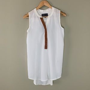 Sunday in Brooklyn Cream Hi/Low Sleeveless Top